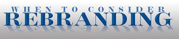 consider rebranding