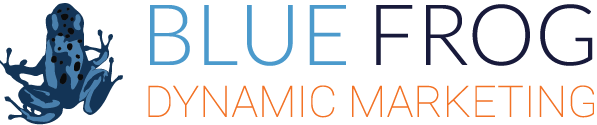 Blue Frog Dynamic Marketing Logo