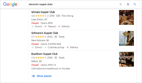 wisconsin-supper-clubs-google-local-pack