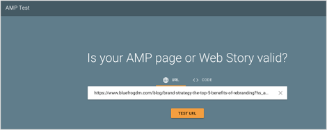 Google AMP Test Tool
