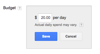 adwords budget