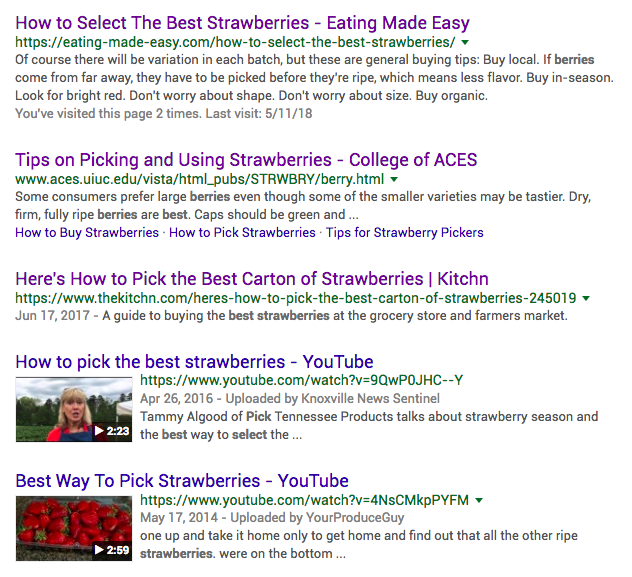 top search engine results