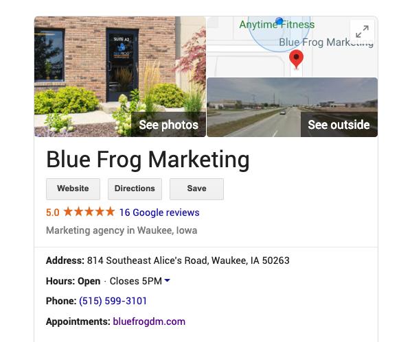 blue-frog-marketing-google-my-business-listing