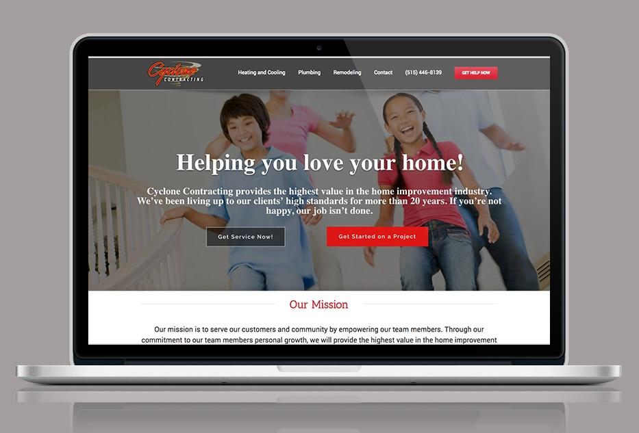 Cyclone Contracting Website Design