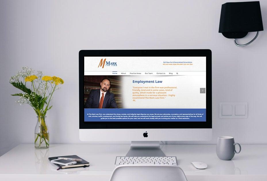 Mark Law Firm Website Design