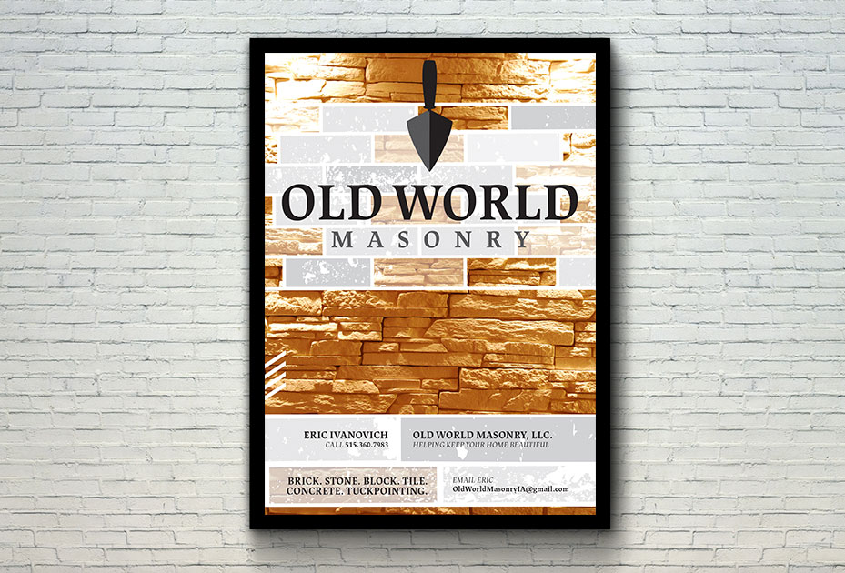 Old World Masonry Graphic Design