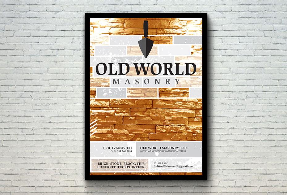 Old World Masonry Graphic Design