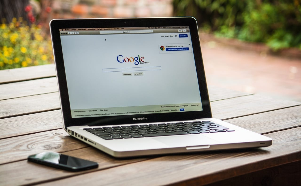 google-search-screen-on-laptop